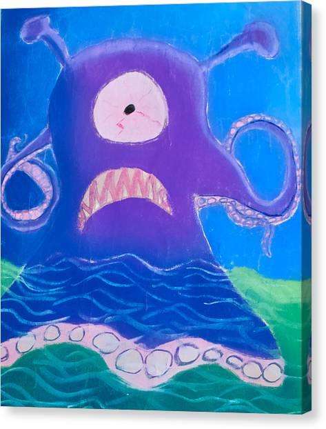 Monsterart Sludge Canvas Print