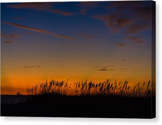 Sea Oats At Twilight Canvas Print