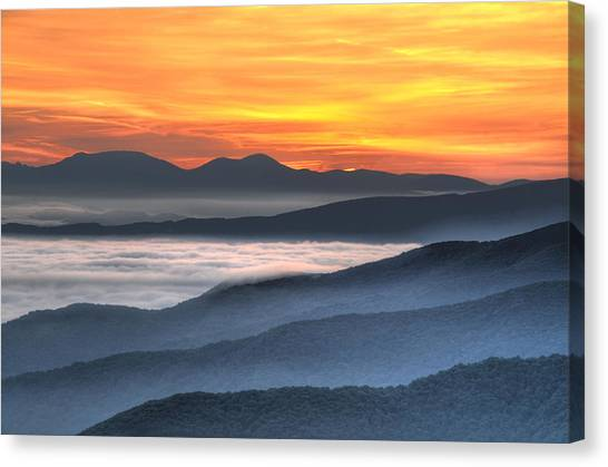 Sea Of Awakening Canvas Print by Mary Anne Baker