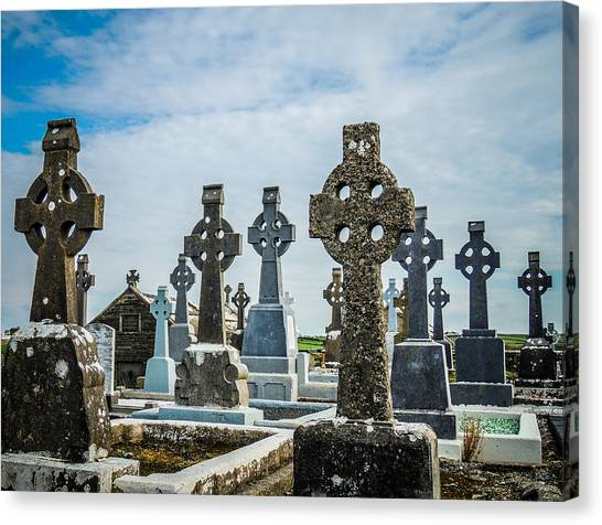 Sea  Of Celtic Crosses Canvas Print
