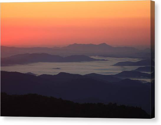 Sea Of Clouds-blue Ridge Mountains Nc Canvas Print