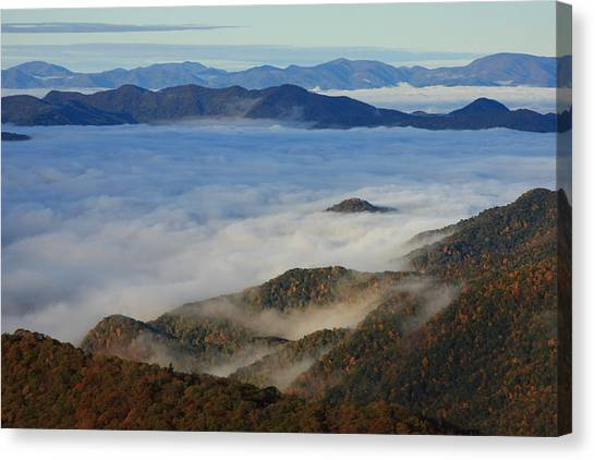 Sea Of Clouds In The Courthouse Valley-blue Ridge Parkway Canvas Print