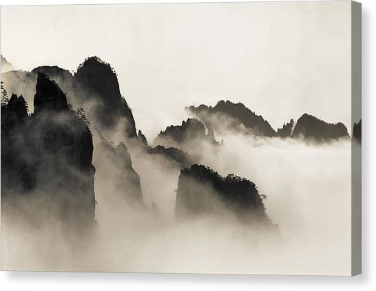 Mountain Canvas Print - Sea Of Clouds by King Wu