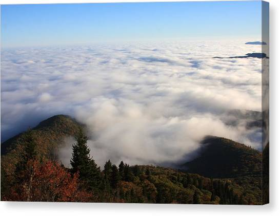 Sea Of Clouds On The Blue Ridge Parkway Canvas Print