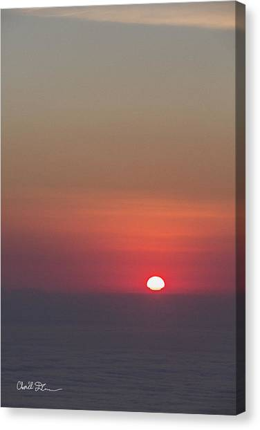 Sea Of Clouds Sunset Canvas Print