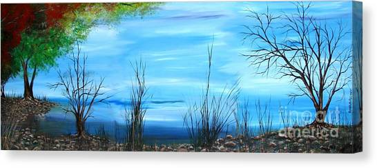 Sea Of Galiley Shore Canvas Print by Roni Ruth Palmer