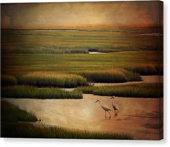 Seagrass Canvas Print - Sea Of Grass by Lianne Schneider