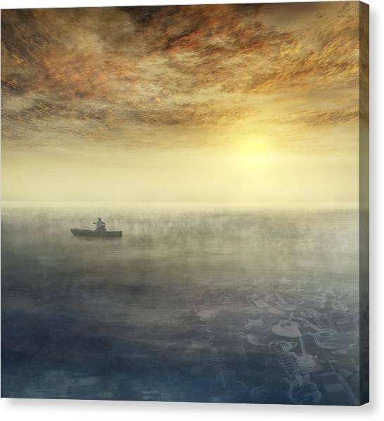 Sea Of Music Canvas Print by Akos Kozari