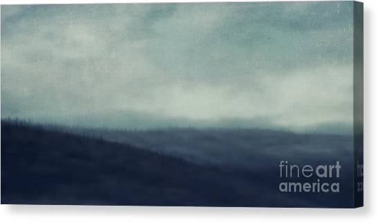 Treeline Canvas Print - Sea Of Trees And Hills by Priska Wettstein