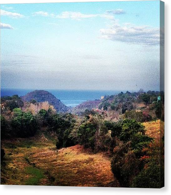 Jeep Canvas Print - #sea #puertorico #seascape #landscape by Tony Sinisgalli