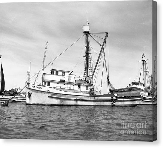Purse Seiner Sea Queen Monterey Harbor California Fishing Boat Purse Seiner Canvas Print