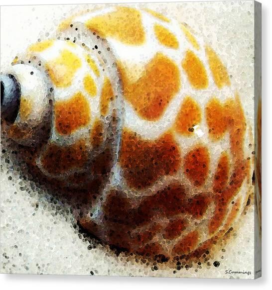 Conch Canvas Print - Sea Shell Beach Painting Art by Sharon Cummings