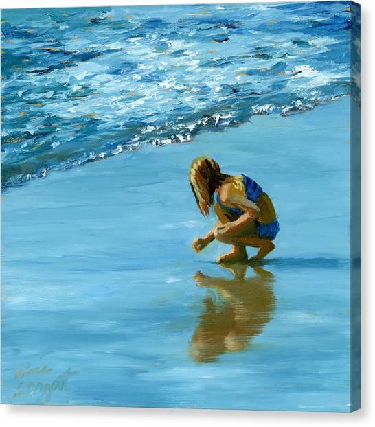 Sea Shell Seeker Canvas Print