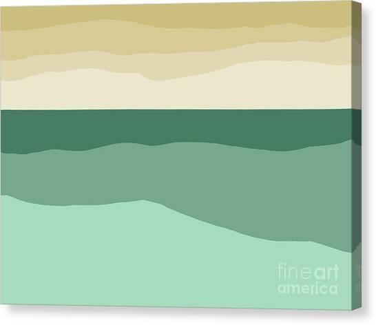 Sea Slab Waves 2 Canvas Print