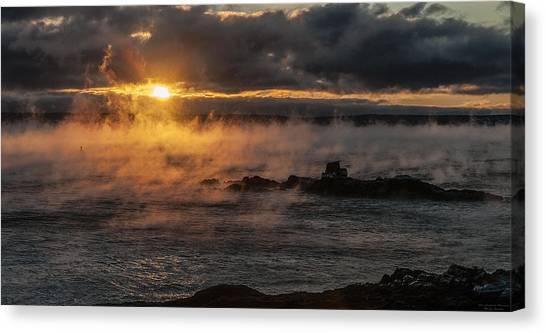 Sea Smoke Sunrise Canvas Print