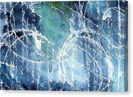 Abstract Designs Canvas Print - Sea Spray by Linda Woods