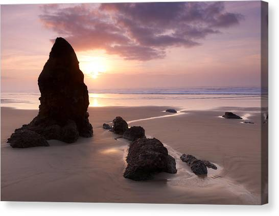 Sea Stack Sunset Canvas Print