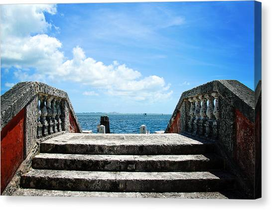 Sea Stairs Canvas Print