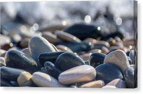 Abstract Seascape Canvas Print - Sea Stones  by Stelios Kleanthous
