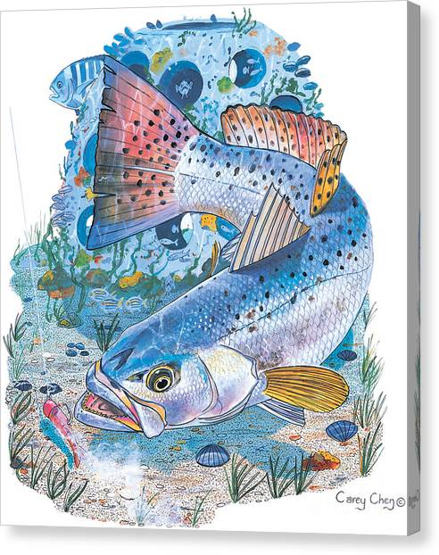 Yamaha Canvas Print - Sea Trout Wreck by Carey Chen