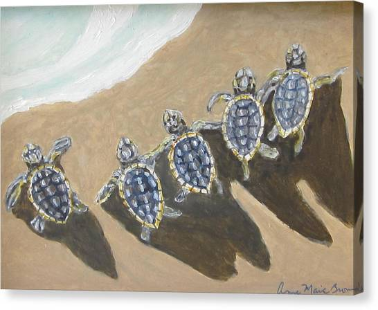 Sea Turtle Babes Canvas Print