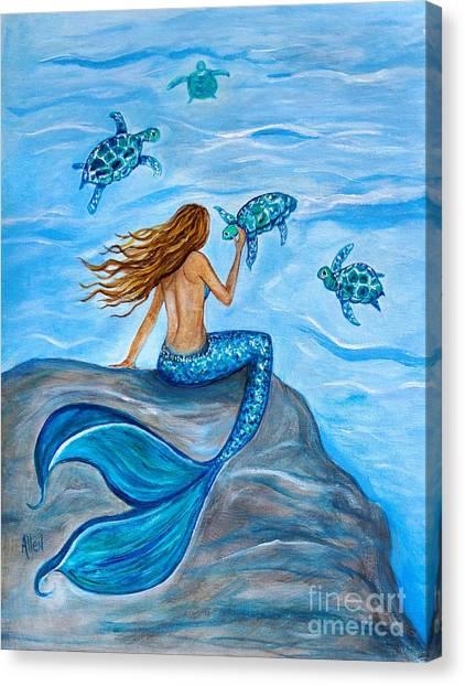 Sea Turtle Friends Canvas Print