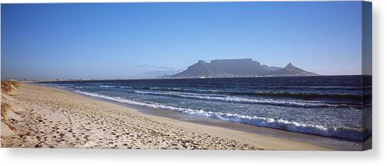 Table Mountain Canvas Print - Sea With Table Mountain by Panoramic Images
