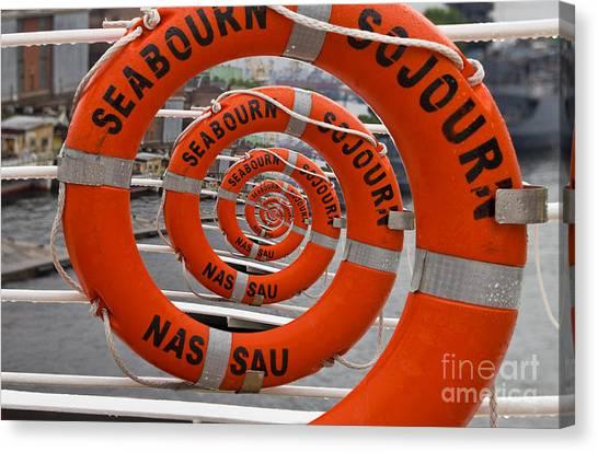 Seabourn Sojourn Spiral. Canvas Print