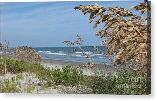 Seabrook Sc Beach Canvas Print
