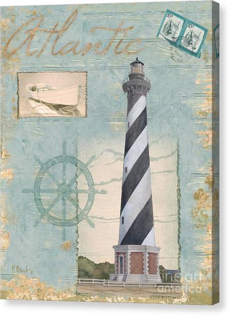 Lighthouse Canvas Print - Seacoast Lighthouse I by Paul Brent