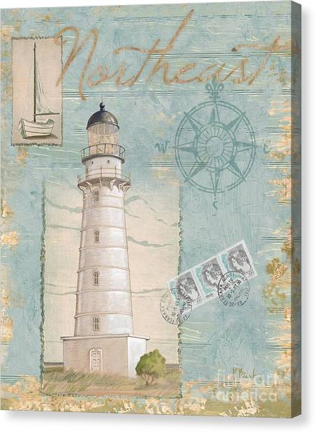 Lighthouse Canvas Print - Seacoast Lighthouse II by Paul Brent