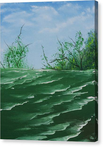 Seafoam Surf Canvas Print