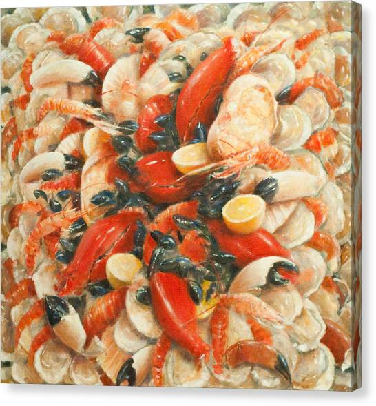 Fish Market Canvas Print - Seafood Extravaganza by Lincoln Seligman