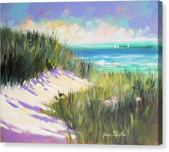 Seagrass Canvas Print - Seagrass Shore by Jane Slivka