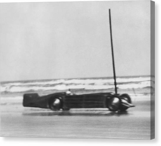 Racecar Drivers Canvas Print - Seagrave's Golden Arrow Car by Underwood Archives