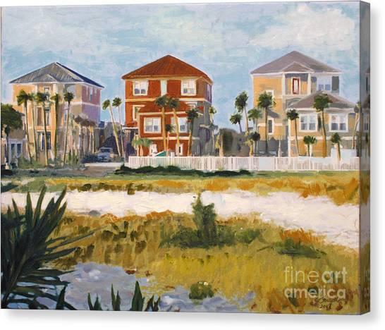 Seagrove Beach Houses Canvas Print
