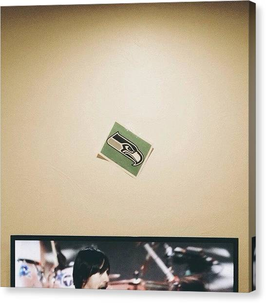 Seattle Seahawks Canvas Print - #seahawks #rhcp #vscocam #seattle by Seth Neilson