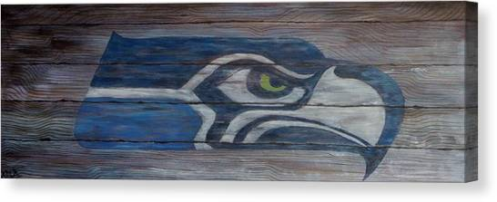 Seattle Seahawks Canvas Print - Seahawks by Xochi Hughes Madera