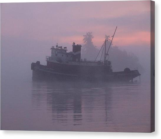 Seahorse On A Misty Morning Canvas Print