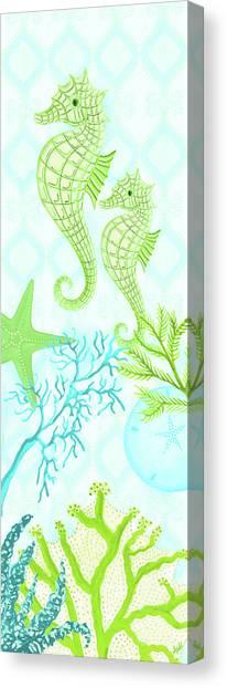 Seahorses Canvas Print - Seahorse Reef Panel II by Andi Metz