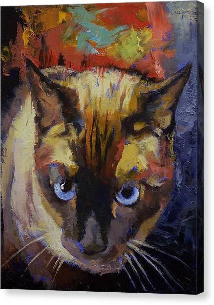 Siamese Canvas Print - Seal Point Siamese by Michael Creese