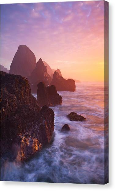 Southern Rock Canvas Print - Seal Rock Sunset by Darren  White