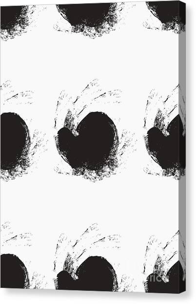 Brush Stroke Canvas Print - Seamless Background Pattern, With by Tetiana Yurchenko
