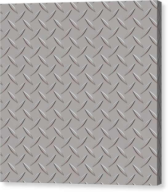 Seamless Metal Texture Rhombus Shapes 3 Canvas Print by REDlightIMAGE
