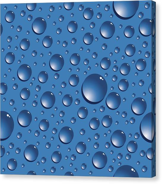 Seamless Water Drops Canvas Print