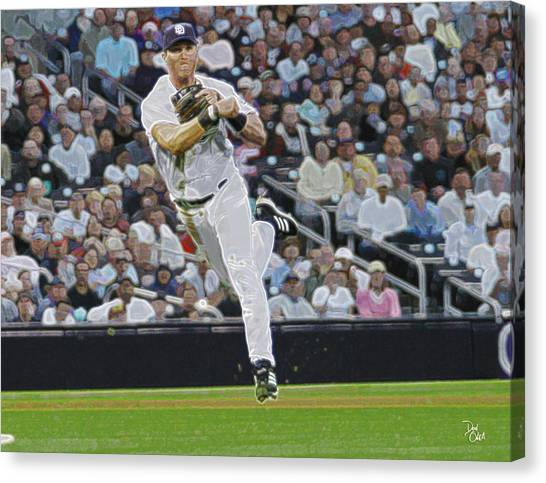 San Diego Padres Canvas Print - Sean Burroughs   Padres by Don Olea