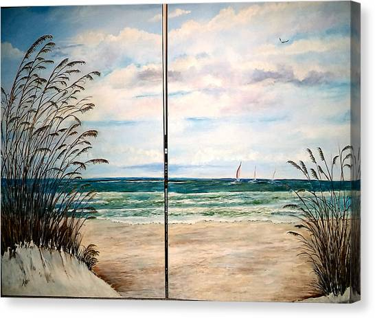 Seaoats On The Beach Canvas Print
