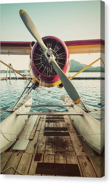 Seaplane Dock Canvas Print