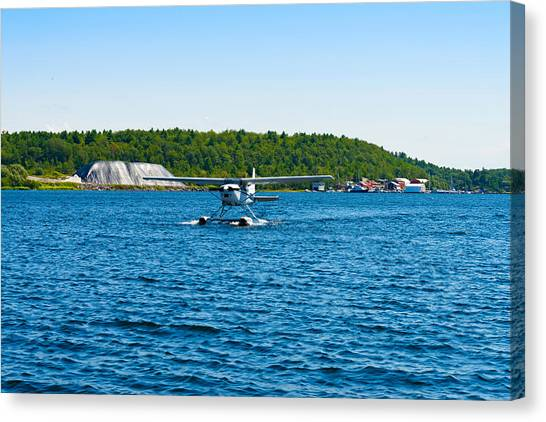 Seaplanes Canvas Print - Seaplane In The Sea, Deep Bay, Parry by Panoramic Images