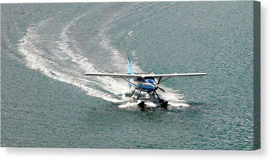 Seaplanes Canvas Print - Seaplane Landing by Steve Allen/science Photo Library